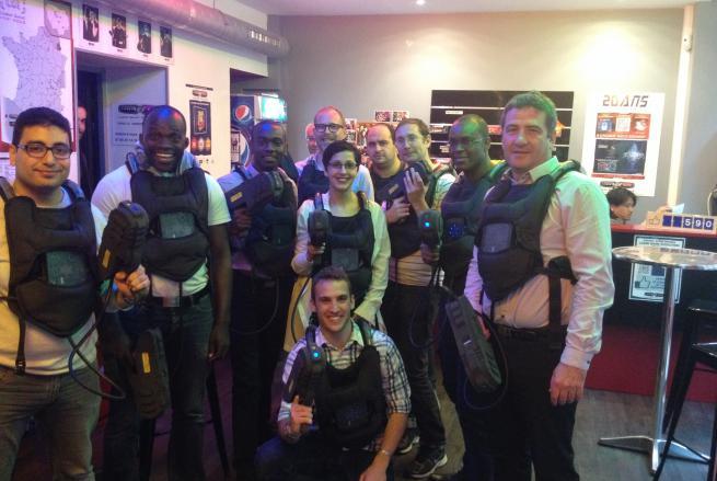 L'équipe d'Infotem réunie au laser game